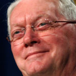 U.S. Sen. Jim Bunning, R-Kentucky, a Hall of Fame pitcher, smiles as he talks about progress made by Major League Baseball in dealing with steroids in Washington, Nov. 15, 2005.