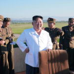 North Korean leader Kim Jong Un watches the test of a new-type anti-aircraft guided weapon system organized by the Academy of National Defense Science in this undated photo released by North Korea's Korean Central News Agency, May 28, 2017.