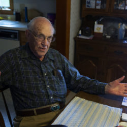 Perry Drew was drafted during World War II when he was 18 years old. He was placed in the U.S. Navy Armed Guard, who's units were established during WWII in an attempt to provide defensive firepower to merchant ships in convoy or merchant ships traveling alone. The unit no longer exists.