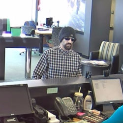 Bangor police a looking for this man in connection with the robbery Sunday of the TD Bank branch on Stillwater Avenue.