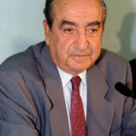 Former Greek Conservative Prime Minister Constantine Mitsotakis in this undated file photo.