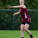 Morgan Dauk of George Stevens Academy placed first in the girls javelin at the PVC Small School Championship meet at Foxcroft Academy on Monday.