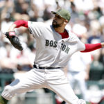 Boston Red Sox starting pitcher David Price (24) delivers a pitch during the first inning on Sunday against the Chicago White Sox at Guaranteed Rate Field. Price was making his first start of the season after coming off the disabled list.