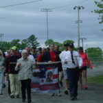 Relatives of the Aroostook County soldiers who have been killed in action since 2001 gathered in Houlton on Monday, May 29, 2017, for a race in their honor. The second annual Wilderness Walk for Warriors Walk and Fun Run began just before noon under cool, gray skies. A recognition ceremony was held before the start to memorialize the fallen soldiers.