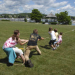 A tug-of-war contest held at Belfast Common during the Sixth Maine Celtic Celebration in 2012.