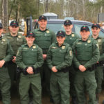 Ten new Maine game wardens graduated on April 27, from the Maine Criminal Justice Academy in Vassalboro. The graduates are Kale Oleary from Fort Kent (back row, left to right), Harry Wiegman from Leeds, Taylor Valente from Gray-New Gloucester, Camden Akins from Winslow, Kyle Franklin from Durham, John Carter from Orrington, Nick Raymond from Winslow (front row, left to right), Megan Miller from Pittsfield, Lauren Roddy from Belgrade, and Kayle Hamilton from Buxton.