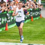 Former Bangor High School star Riley Masters, pictured finishing at the 2013 Beach to Beacon 10K, has signed to compete for Nike Running and will be based out of Boulder, Colorado.
