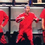 Adam Yauch, center, performs with the Beastie Boys.