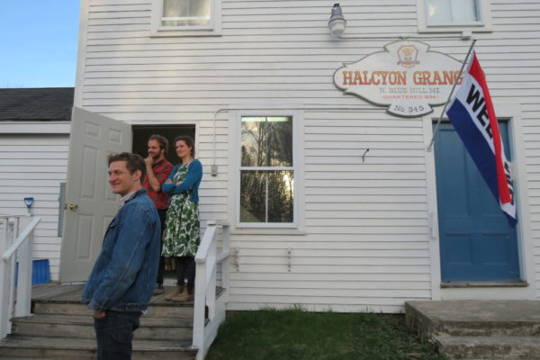 Tim Semler (red-checked shirt) and Katherine Perkins, who play music with the Brooksville-based Soulbenders, wait for their performance to begin on Friday, April 29, 2017 at the Halcyon Grange. &quotThe grange is very wonderful and very important,&quot Semler said. &quotPeople need places to get together.&quot