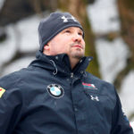Steven Holcomb of USA warms up before a race in February. He was found dead at the Team USA training center on Saturday.