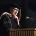 BANGOR, Maine -- May 6, 2017 -- Galen Cole, former president of Cole Express, founder of the Cole Land Transportation Museum in Bangor, World War II veteran and philanthropist received an honorary doctorate during Husson University