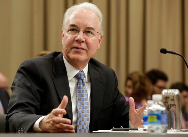 Secretary of Health and Human Services Tom Price testifies on Fiscal Year 2018 Budget Blueprint before the Committee on Appropriations at the U.S. Capitol in Washington, DC, U.S., March 29, 2017.