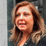 Reality TV show star Abby Lee Miller leaves at the federal courthouse in Pittsburgh, Pennsylvania, Nov. 2, 2015.