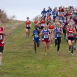 Students compete at the Class A cross country regional championships at Troy Howard Middle School in Belfast in 2016.