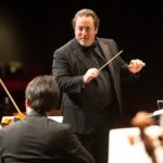 Lucas Richman conducting the Bangor Symphony Orchestra