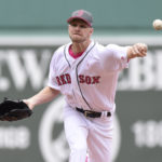 May 13, 2017; Boston, MA, USA; Boston Red Sox starting pitcher Chris Sale (41) pitches during the first inning at against the Tampa Bay Rays Fenway Park. Mandatory Credit: Bob DeChiara-USA TODAY Sports