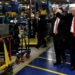 Donald Trump and Mike Pence tour a Carrier factory in Indianapolis, Indiana, Dec. 1, 2016.