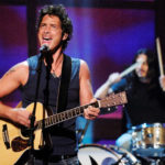 "Chris Cornell (L) and Brad Wilk of music group Audioslave perform live during the ""ReAct Now: Music & Relief"" special at Paramount Studios in Los Angeles, Sept. 10, 2005."