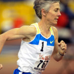 Joan Benoit Samuelson, who won an Olympic gold medal in 1984, competes in a 3,000-meter race in 2009.