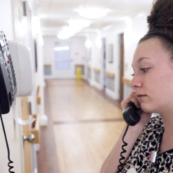 BANGOR, MAINE -- 02/28/2017 --  Salena Sawtelle has been working at the Stillwater Health Care facility in Bangor for three years. Nursing homes such as this are largely staffed by women and the wages are not far above Maine's minimum wage.