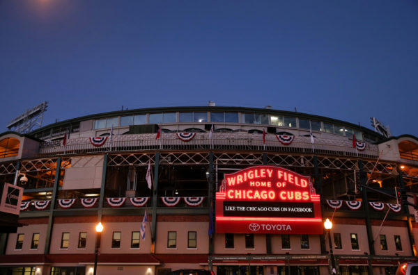 A man died May 17, 2017, after falling over a railing at Wrigley Field on May 16, 2017.