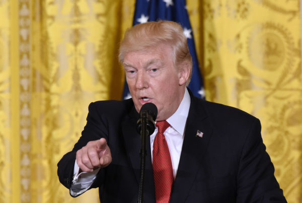 President Donald Trump speaks during a joint press conference with President Juan Manuel Santos of Colombia on Thursday, May 18, 2017 in the East Room of the White House in Washington, D.C.