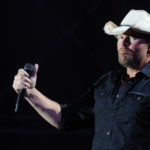 Toby Keith performs on stage at the Bangor Waterfront during a stop on his Locked and Loaded tour, July 9, 2011.