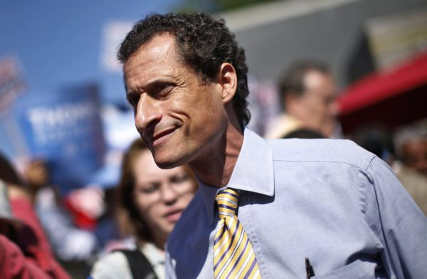 Former U.S. Congressman Anthony Weiner appears for a mayoral candidates forum in the Inwood section of upper Manhattan in New York, July 30, 2013.
