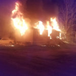 A mobile home at Brookside Mobile Home Park in Waldoboro was fully involved when emergency responders arrived on scene shortly after midnight on Saturday, May 20.