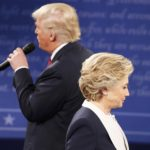 Republican U.S. presidential nominee Donald Trump speaks during the presidential town hall debate with Democratic U.S. presidential nominee Hillary Clinton on Oct. 9, 2016.