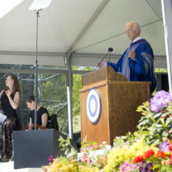 Former Vice President Joseph R. Biden is the keynote speaker during commencement ceremonies at Colby College Sunday in Waterville.