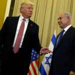 President Donald Trump (left) and Israel's Prime Minister Benjamin Netanyahu speak to reporters before their meeting at the King David Hotel in Jerusalem, May 22, 2017.