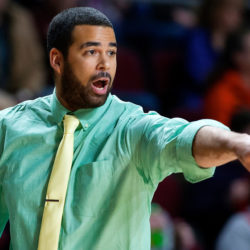 High school basketball coaches such as Tyler Putnam of Washburn, shown here during a 2017 Class D North tournament game in Bangor, will have more space to roam the sidelines next season under new rules adopted by the National Federation of State High School Associations.