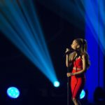 "Ariana Grande performs during the taping of ""A Very GRAMMY Christmas"" at the Shrine Auditorium in Los Angeles, California November 18, 2014."