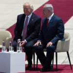U.S. President Donald Trump and Israeli Prime Minister Benjamin Netanyahu during an official welcoming ceremony on Monday, May, 22 2017 at Ben Gurion International Airport near Tel Aviv, Israel.