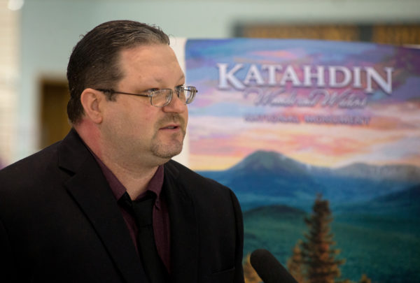 Millinocket town Councilor Jesse Dumais was an opponent of a national monument near his community. Earlier this month, he spoke out against efforts to overturn the Katahdin Woods and Waters National Monument.