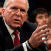 Former CIA director John Brennan testifies before the House Intelligence Committee.