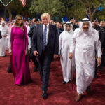 U.S. President Donald Trump and first lady Melania Trump are welcomed by Saudi Arabia's King Salman bin Abdulaziz Al Saud at Al Murabba Palace in Riyadh, Saudi Arabia May 20, 2017.