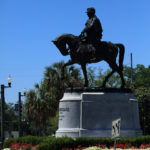 P.G.T. Beauregard statue, located in front of the New Orleans Museum of Art, is one of three Confederate statues to be removed in New Orleans, April 24, 2017.