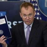 Office of Management and Budget Director Mick Mulvaney speaks during a press briefing about  President Donald Trump's 2018 budget proposal that includes boosts for military and spending cuts on safety-net programs for poor at the White House, May 23, 2017.