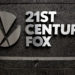 The 21st Century Fox logo is seen outside the News Corporation headquarters in Manhattan.