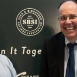 Bob Quentin, SBSI President and Kevin Savage, SBSI CEO, unveiling the bank's new branding.