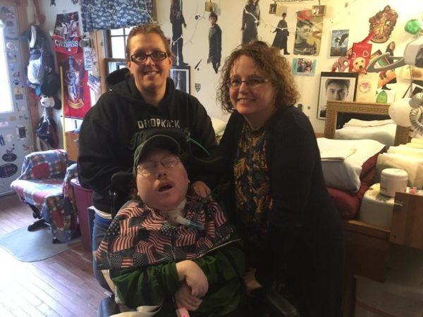 Deborah Klane (clockwise from right), Evan Klane and nurse Dece Dostie.