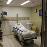 3378: A pre-op/post-op room mocked up during a May 3 staff tour of the new Cardiovascular Services space on the first floor of Eastern Maine Medical Center's Penobscot Pavilion.