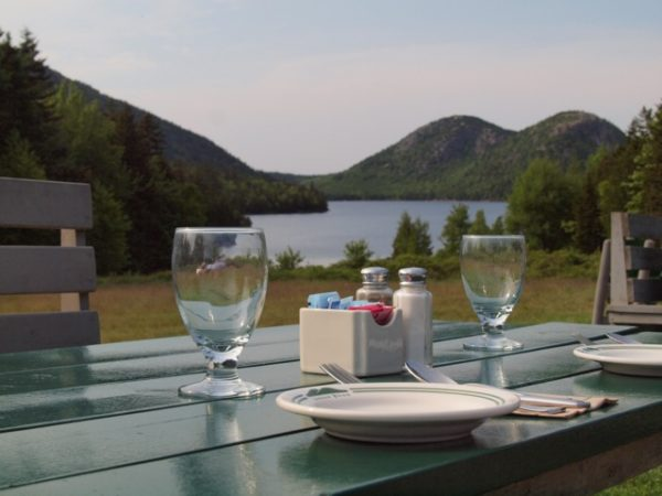 This photo of Jordan Pond, seen from the outdoor seating at the Jordan Pond House restaurant, is one of Billings' favorites. A 16x20 print hangs in the Billings' kitchen.