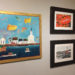 """""""A Taste of Pemaquid"""" has an eclectic collection of art to delight visitors.  One corner of the show features the work of (clockwise from left) Dale Dapkins, Judy Bernier, and DiTa Ondek."""