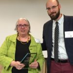 Dr. Dylan McKenney, President, MAPP presents Dr. Louisa Barnhart with award.