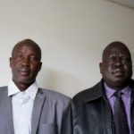 Peter Machar (right) and James Shol, who recently returned to Maine after being caught up in South Sudan's rekindled civil war.