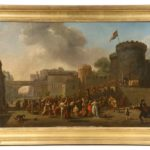 1.	Italian artist Giovanni Paolo Panini (1691-1765) painting depicting a crowd greeting victorious troops, one of many fine items to be sold at Thomaston Place Auction Galleries on June 2, 3 & 4