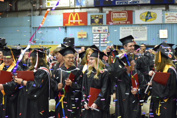 It was a very proud moment as NMCC students celebrate their graduation among confetti and streamers during commencement, May 13.